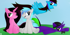 Skallow, Amethyst, Mental and Hazz by Electric-Amethyst