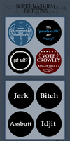 Supernatural Buttons by caycowa
