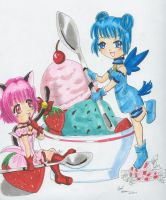 Strawberry-Mint Ice Cream by Tamao