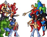 The Avengers Vs Justice League by Hades-O-Bannon