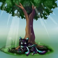 Relaxing in the shade by lunumi