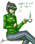 Cup of tea: Jet woman by borockman