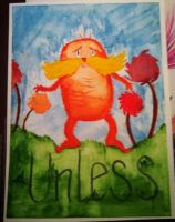 Unless- Lorax water color by QueenoftheLemurs