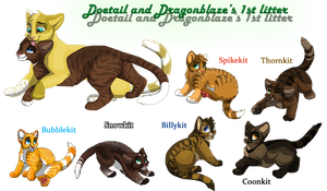 Doetail and dragonblaze kits by brownwhisker