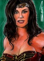 Wonder Woman Sketch Card by RandySiplon
