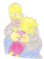 Homer and Lisa Moment 3 by MarioSimpson1