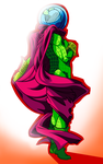 Mysterio Wrapped in Cape by Empty-Brooke