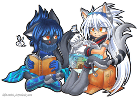 CR: Raven and Genesis by Chibi-Nuffie