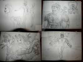 Compilation of Latest Sketches by iamthemonkeyhead