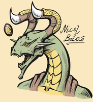 Faces of the Multiverse - Nicol Bolas by haunter27