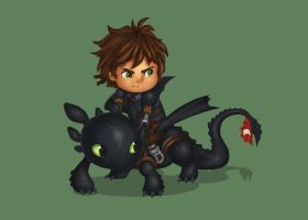 Hiccup and Toothless by KteaCrumpet