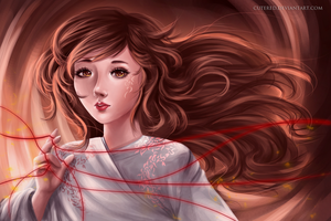 Red String of Faith by Crezenda