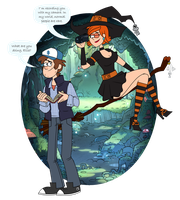 Mystery Guy and Witch by EllisSummer