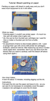 Tutorial: Bleach painting on paper by Magical525