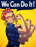 We Can Do It Spinnerette by KrazyKrow