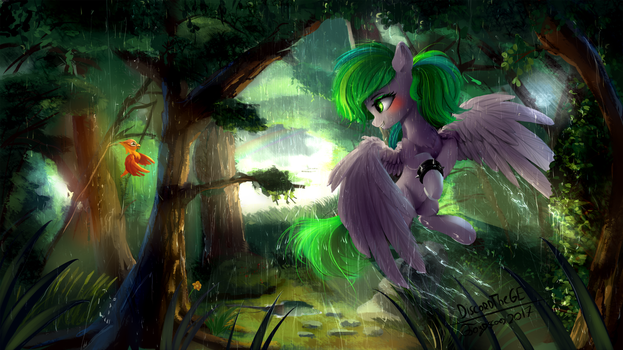 Everfree rain (commision) by DiscordTheGE