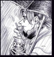 :Kabuto: Rain and Ramen by Yakushi--Kabuto