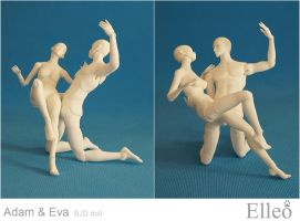 Adam Eve dance 04 by leo3dmodels