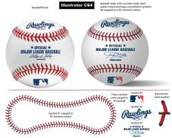 Baseball Stitch Pattern Brush by vectorgeek