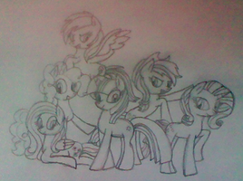 Mane6 Drawing by xXAngelAnarchyXx