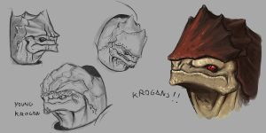 Krogan concepts by FonteArt