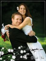 Wedding Thankyou Card - Hahne by TheDaneOf5683
