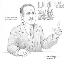 The Godfather 1,000 kiriban by silentsketcher