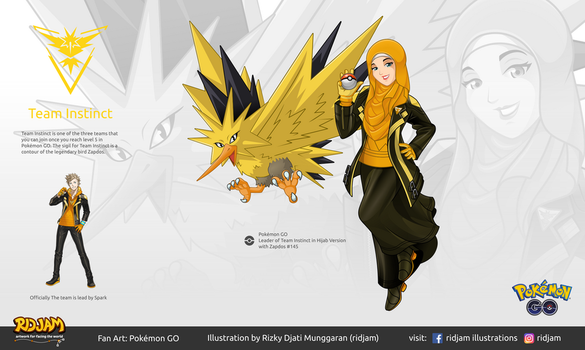 Leader of Team Instinct with Zapdos by RIDJAM