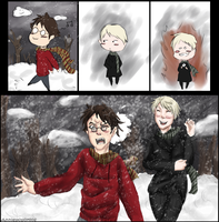 HP: Snowball Fight by Anniepopokios