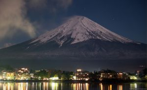Fuji at Night by MeganeRid