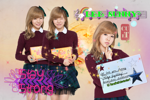 Lee Sunny Stay Strong Wallpaper by HanaBell1