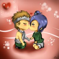 First Kiss-Yahiko and Konan by xXUnicornXx