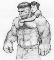 The Hulk with Rick Jones by NMRosario