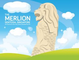 Freebies - Singapore Merlion Sentosa Vector Eps by Lemongraphic