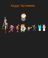 Happy Halloween Crossover 8 (Post Halloween Pic) by kasden95