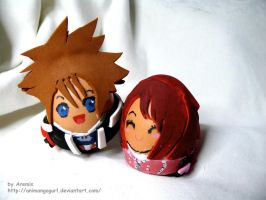 Kairi and Sora egg by Animangagurl