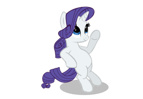 Rarity leaning back by Neriani