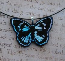 Pastel Fused Glass Butterfly by FusedElegance