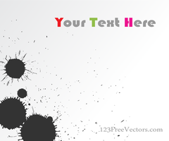 Vector Ink Blot Background Banner Design by 123freevectors