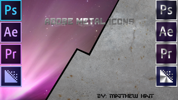 Adobe Metal Icons by PoisonGryphon