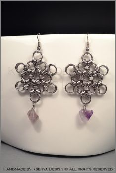 Amethyst Star Earrings by KsenyaDesign