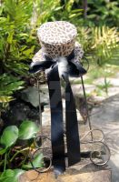Leopard Mini Top Hat with Black Ribbon by spaceraptor