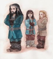 Thorin and his nephews by sawieb