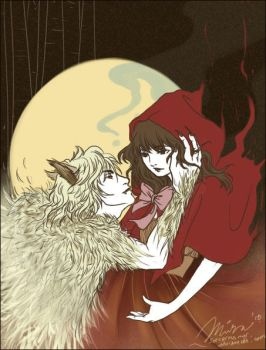 Red and The Wolf by sorceressmyr