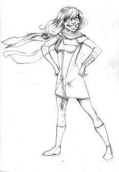 Ms Marvel Pencils by nathancyounger