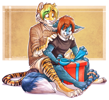 Oh, hey gifts. by AeroSocks
