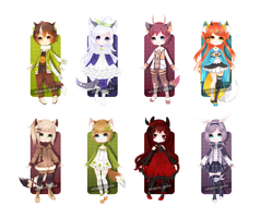 Adoptables 35 - Kemonomimi [CLOSED] by Shiina-Yuki