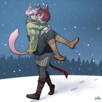 Winter Couple - Vanilla edition [YCH] by FicusArt
