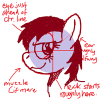 How I Draw: Pony Face - Profile - Mare by buckweiser