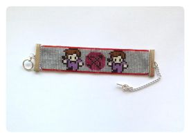 Hawkeye Beaded Bracelet by kitsunesama7